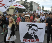 Jandarmeria intervine la mitingul anti-Ponta