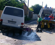 Accident grav intr-o intersectie din HUSI-FOTO