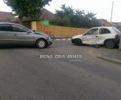 Accident rutier intr-o intersectie din Husi