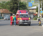 Accident rutier usor intr-o intersectie din Husi-FOTO