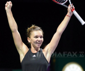 Simona Halep a invins-o pe Serena Williams, la Turneul Campioanelor.