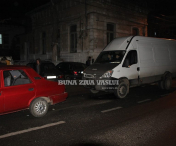 Accident rutier pe strada 1 Decembrie-FOTO