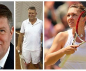 Klaus Iohannis si Simona Halep intra in arena