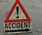 Accident inedit in drum spre Buzias: O femeie fara permis a bagat in spital un motociclist beat