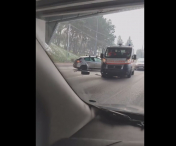 VIDEO / Accident pe Calea Florești, unde o ambulanță a fost implicată