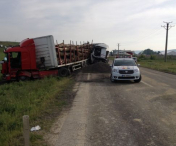 Accident grav de circulatie pe DE 581. Un sofer este in strare critica
