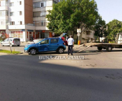 Accident intr-o intersectie din Husi