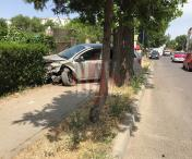 Accident rutier grav intr-o intersectie din  Husi - FOTO/VIDEO