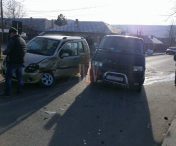 HUSI: Accident rutier in vestita intersectie de pe TOMA KISAKOV-FOTO