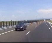 VIDEO INCREDIBIL! Soferita circuland pe CONTRASENS pe autostrada Lugoj – Deva