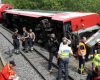 Zeci de raniti intr-un accident de tren in Barcelona